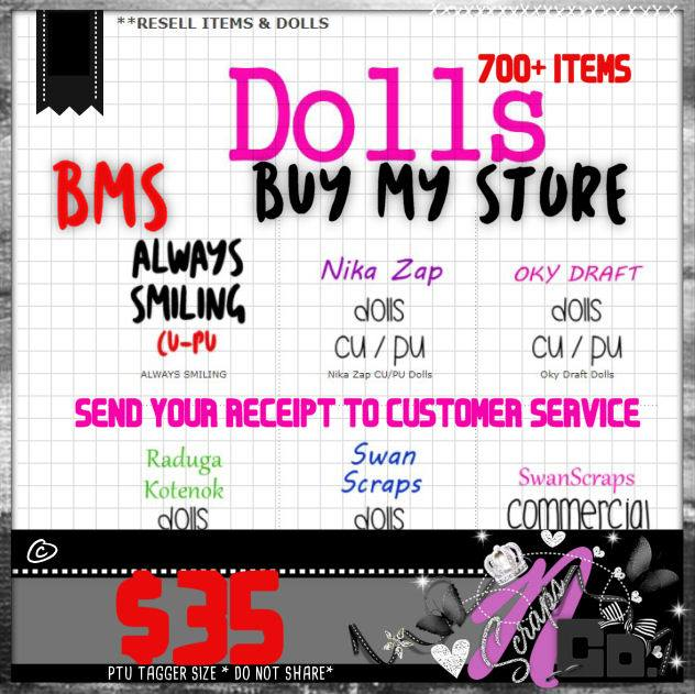 ! LIMITED TIME BMS OFFER RESELL DOLL AREA